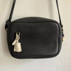 J Crew Signet Grey Leather Crossbody Bag Handbag